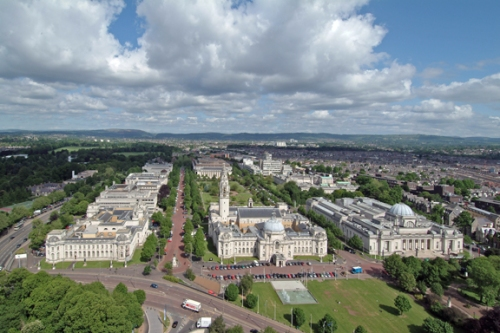 Cardiff's distinguished Civic Centre