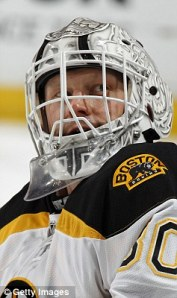 Boston ice hockey player Tim Thomas