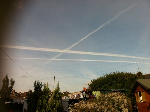 The sky above Oakdale South Wales in 2012