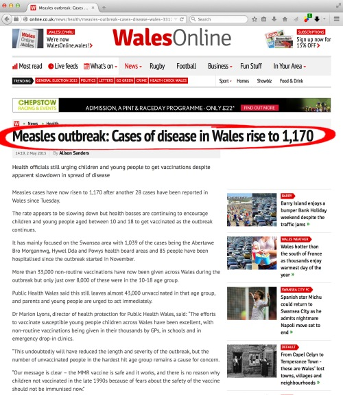 Ambiguity and incorrect figures given by Wales Online