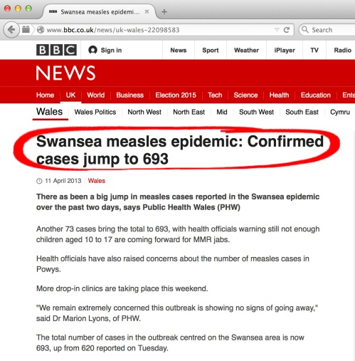 Incorrect and misleading statements as made by the BBC